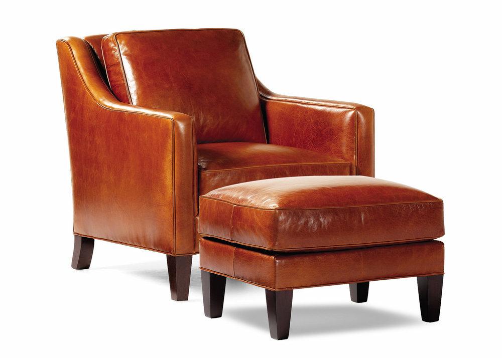 Hancock and Moore Donovan Chair and Ottoman