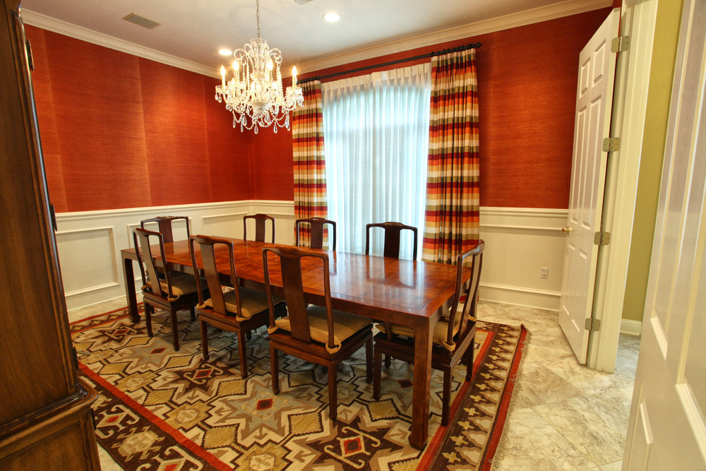 custom window treatments dining room