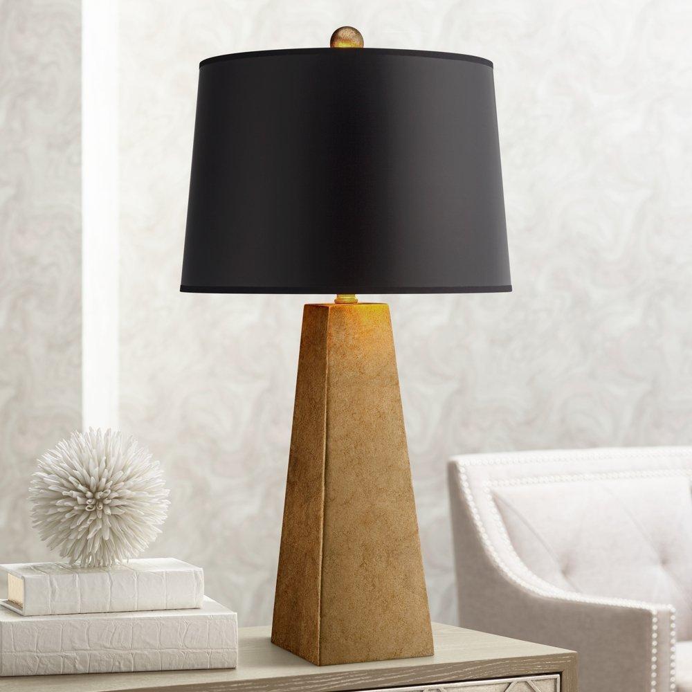 Possini Gold-Leaf Obelisk Lamp available through Amazon affiliate.