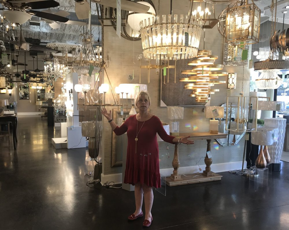 I'm loving chandeliers