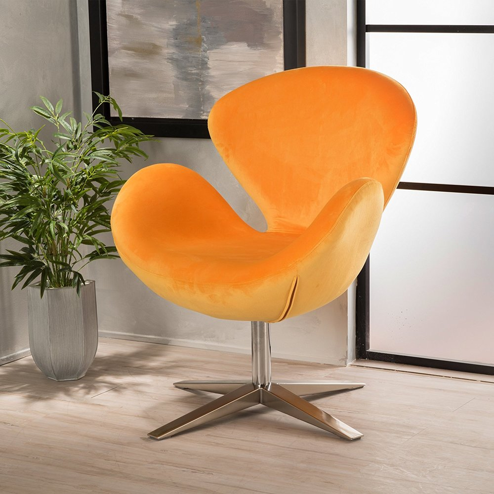 - Get this hip velvet butterfly chair in this bright orange or purple or turquoise to add that 70's vibe to your home or office now! Extra added bonus...also comfy!