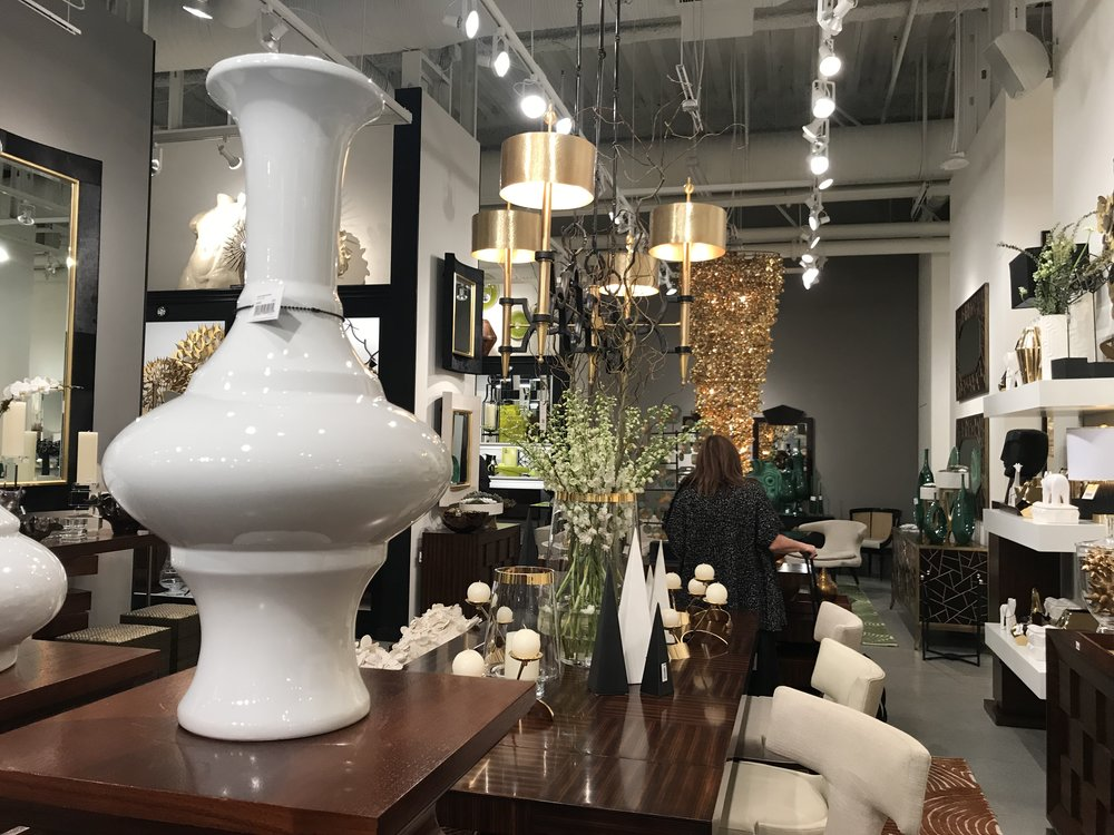 Brass and gold in the Global Views showroom at Las Vegas market last month!