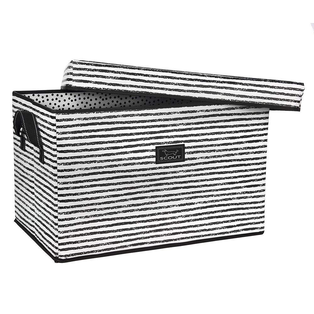 You can get this lovely storage box  here , and it's even in Moira's signature black and white.