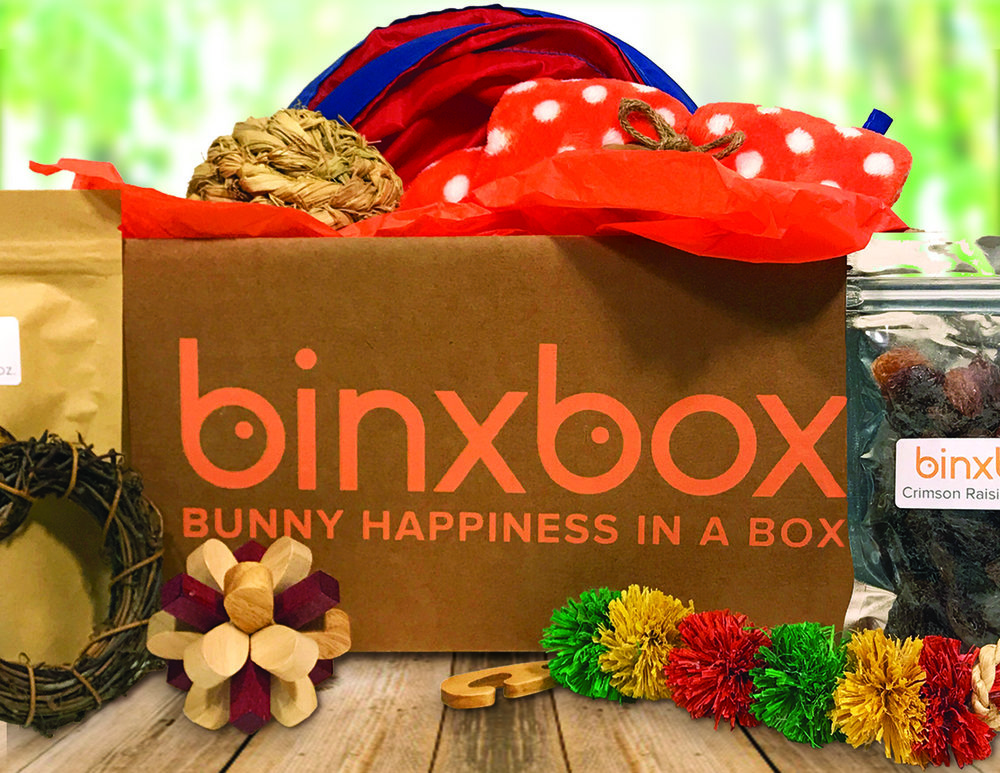 BinxBox - A U.S.-based subscription service for house rabbits.Our goal is to help house rabbits stay happy & healthy by bringing treats, toys, & supplies that are well-researched, quality-tested, & worry-free.