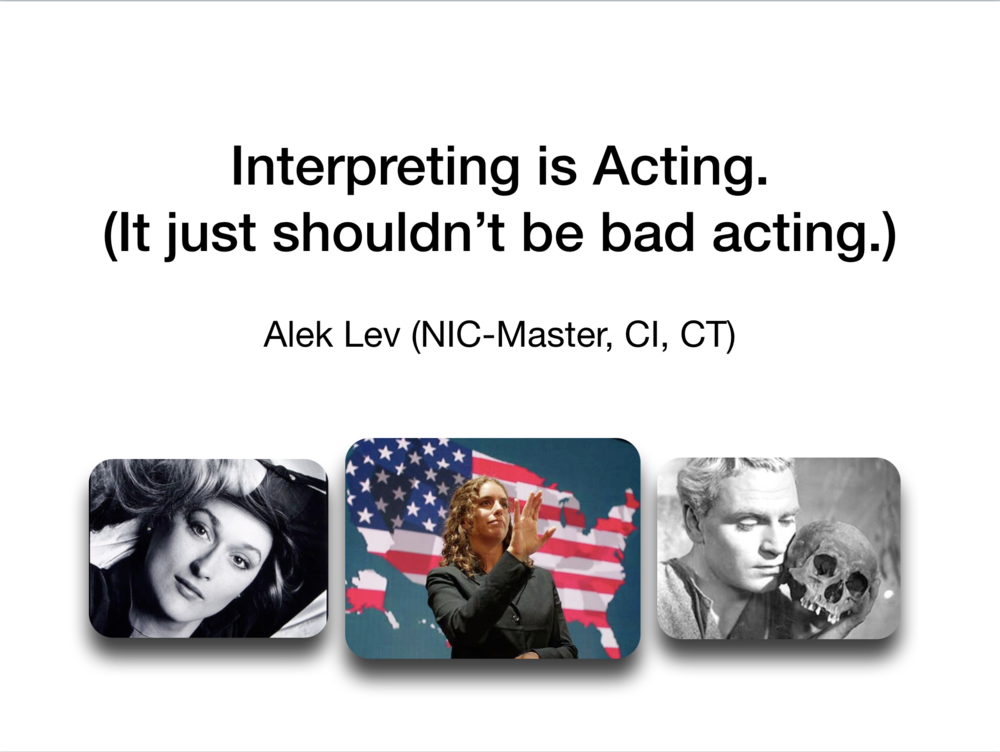 Acting - Slideshow