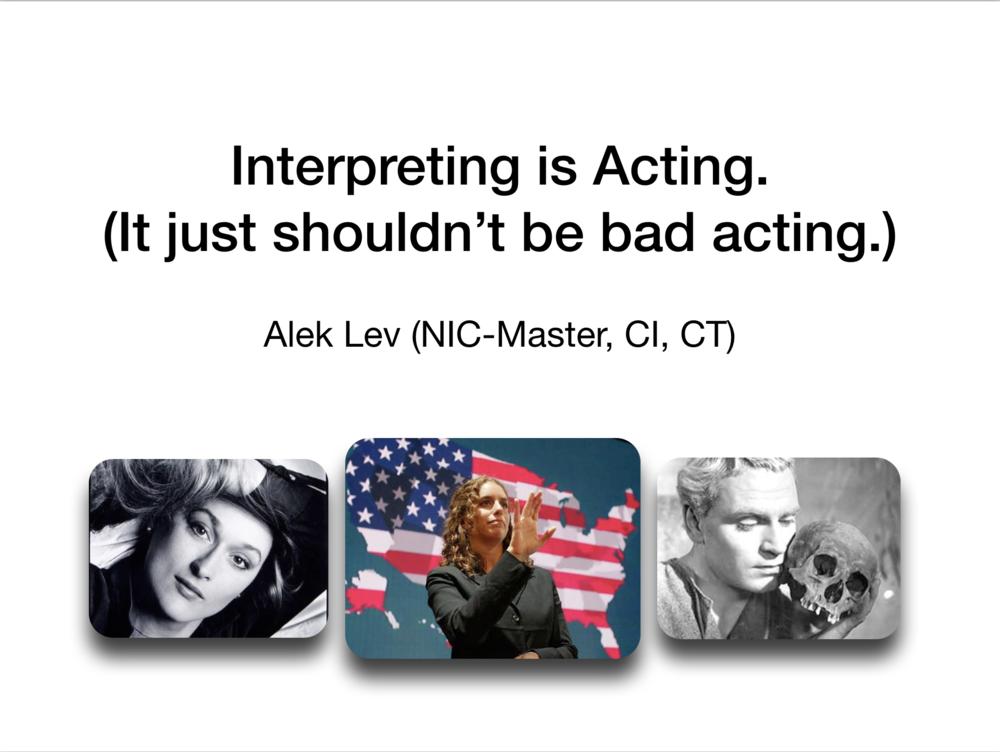 Acting - Slideshow