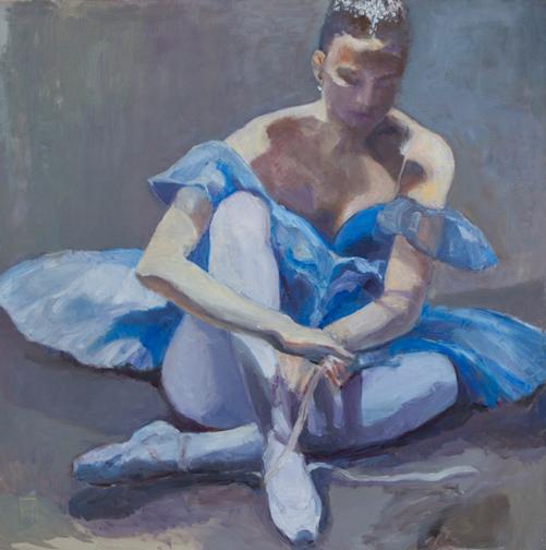 """Blue Tutu, 36"""" x 36"""""""