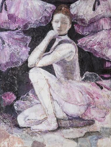 """Ballerina with Tutus - 30"""" x 48"""""""