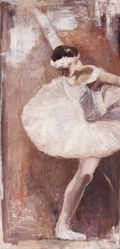 """Ballerina Swan, 48"""" x 24"""""""