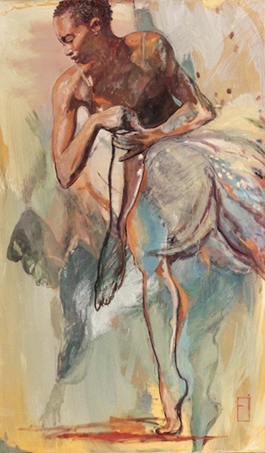 "Two Dancers, 60"" x 36"""