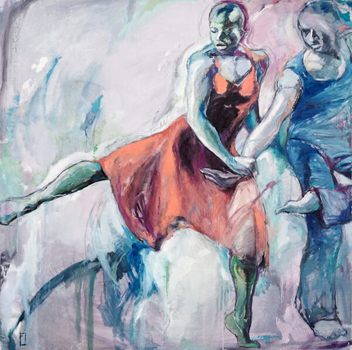 "Ailey Dancers, 48"" x 48"""