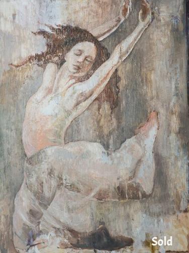 """Dancer IV - 36"""" X 48"""" - Sold"""