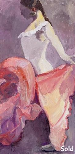 """Flamenco III, 30"""" x 20"""" - Sold"""