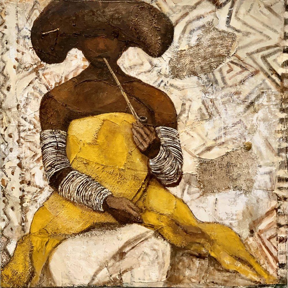 "Woman Kneeling - 36"" X 36"""