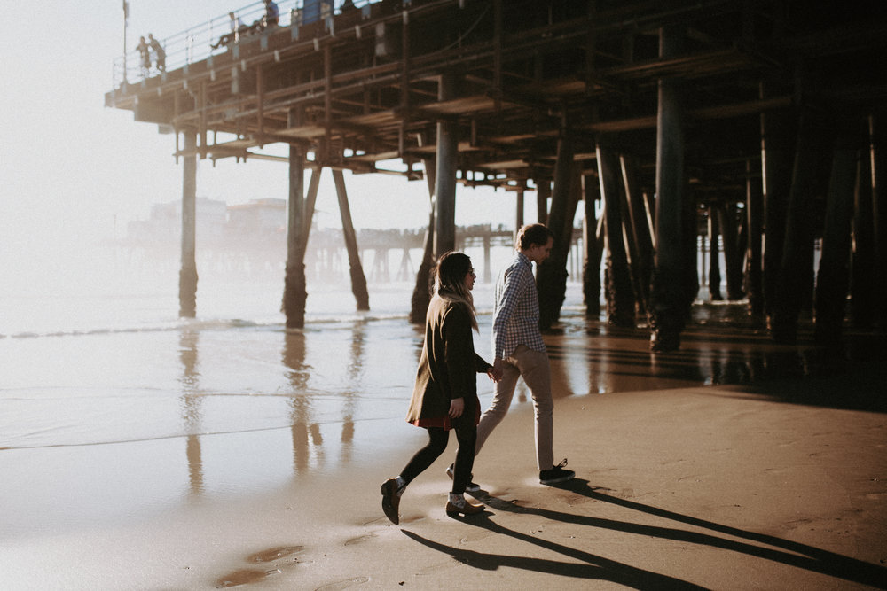 Ginger and Bryan // Santa Monica Pier