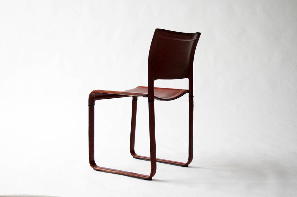 Matteo Grassi Sistina Red Leather Chair Designed By Tito Agnoli