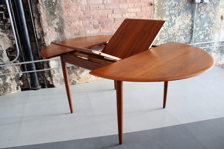 Round Danish Teak Dining Table By Arne Hovmand Olsen For Mogens Kold Denmark Circa Modern
