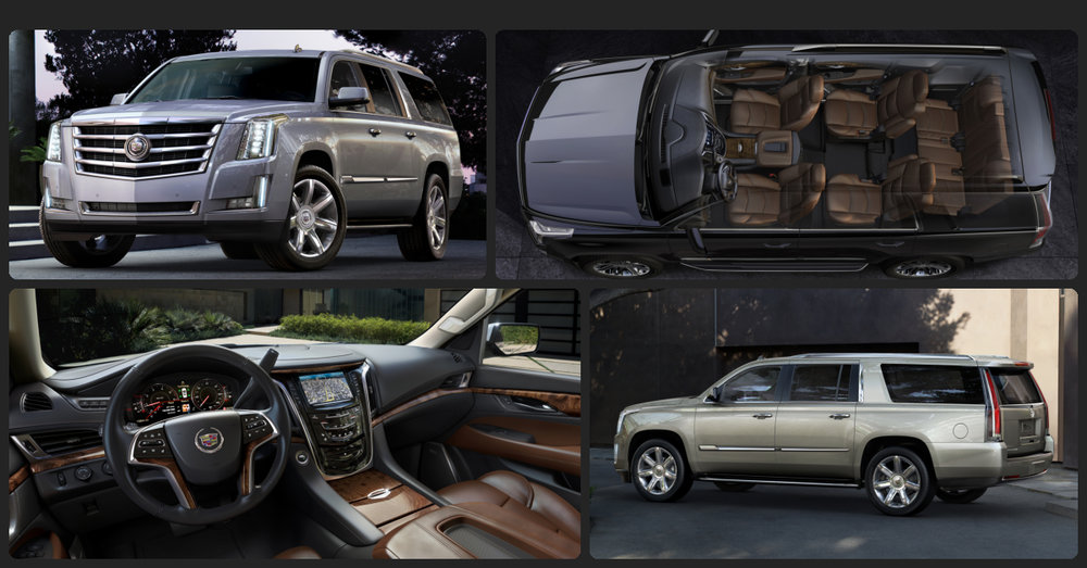 Cadillac Escalade ESV Luxury  $2,000 Total Drive Off / $975 Total Monthly (taxes & fees included | 36 month lease)