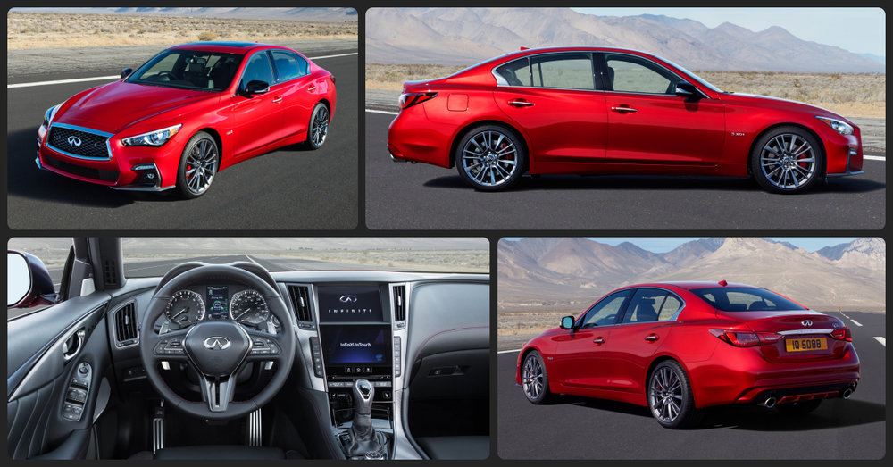 INFINITI Q50 3.0t RED SPORT  $1,500 Total Drive Off / $395 Total Monthly (taxes & fees included | 39 month lease)