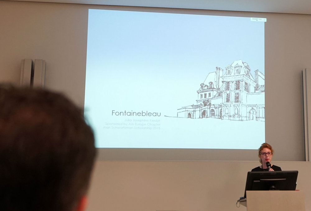 Julia Kwolyk presenting at The AIA Europe International Conference in Vienna, Austria.