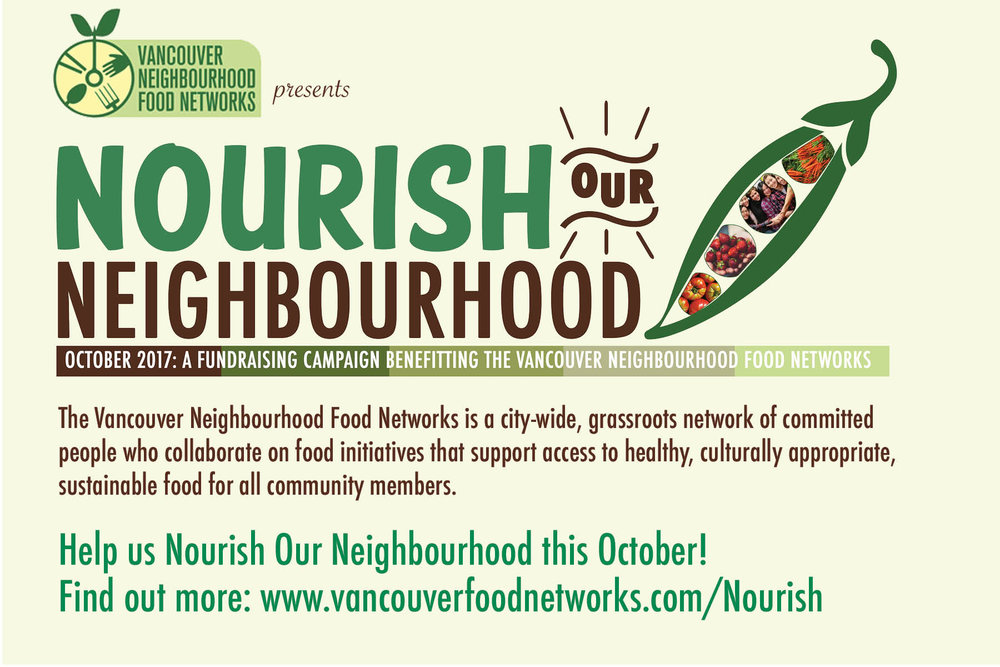 OCTOBER 2017:  Supporting food security projects in the City.  Proceeds support the community garden and our activity in Riley Park.  Businesses are asked to host a fundraiser.  Ask me how!  In 2016,   The August Market on Main  donated10% of their net sales on one day; .  Main Street Honey Shoppe  -  all month  on select items;   The Fish Counter  held our 2nd annual   Meet Rick the Fisherman   day with whole fish on offer! Grain and NextJen joined The Fish Counter with promotions.