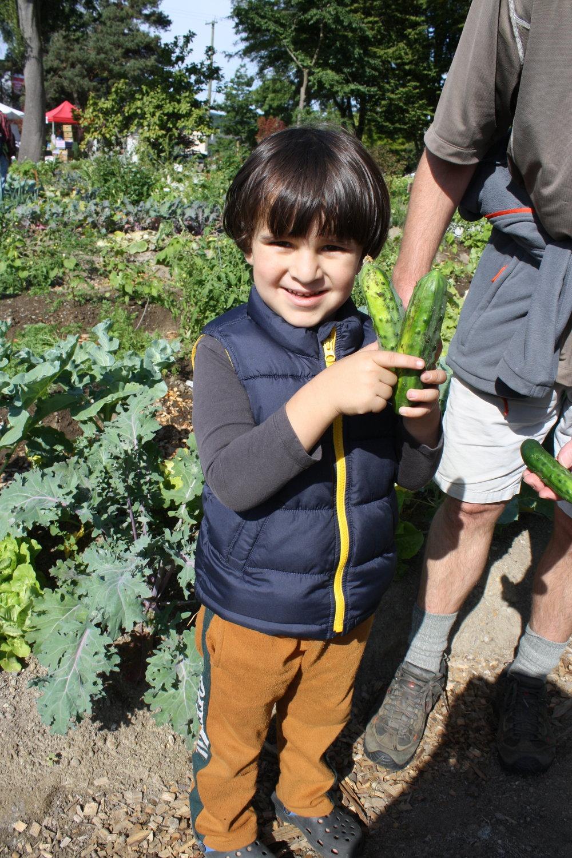 One happy harvester!