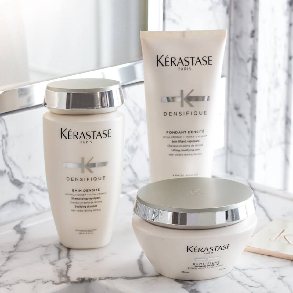 Kérastase - is a European luxury haircare line distributed through selected salons. They are world-renowned leaders in professional haircare, combining innovative technologies with the ultimate salon experience. Built around the concept of enhancing hair's natural beauty, Kérastase has a number of hair care collections designed to improve specific hair and scalp needs. These products unlock your hair's potential while elevating your style and maintaining your color.