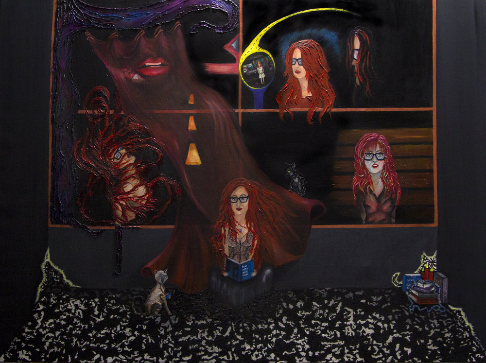 Anna Marie, The Red Room, artist:  Mollie Serena