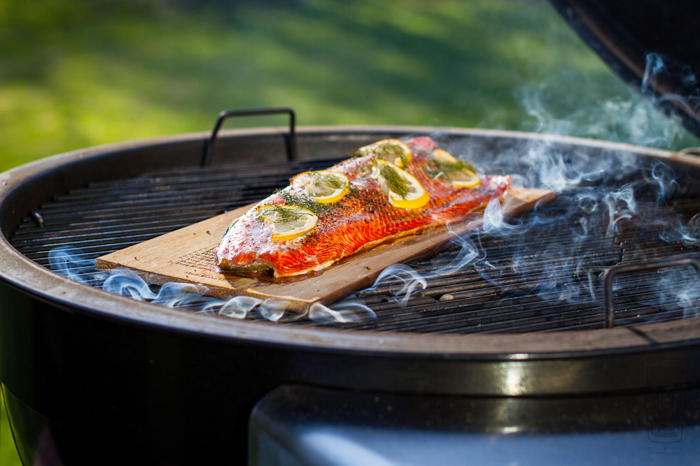 How to cook salmon fillets on weber grill