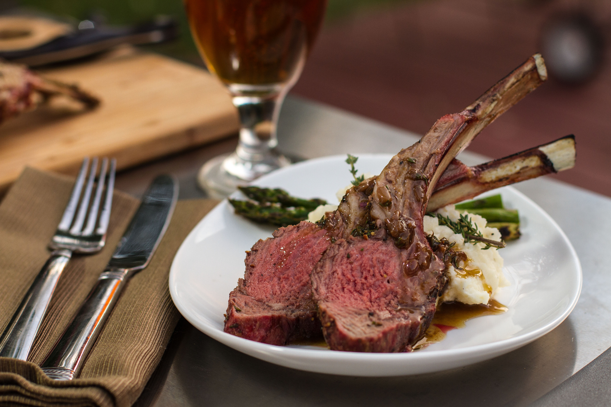 grilled rack of lamb with roasted shallot vinaigrette u2014 another