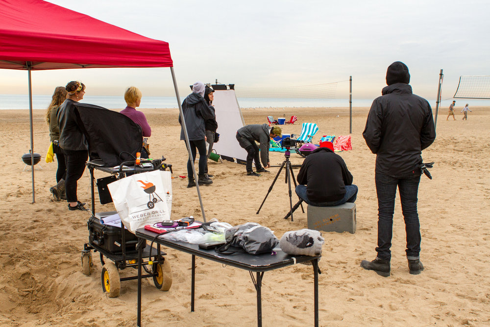 Photographing the Weber Q on the Beach.jpg