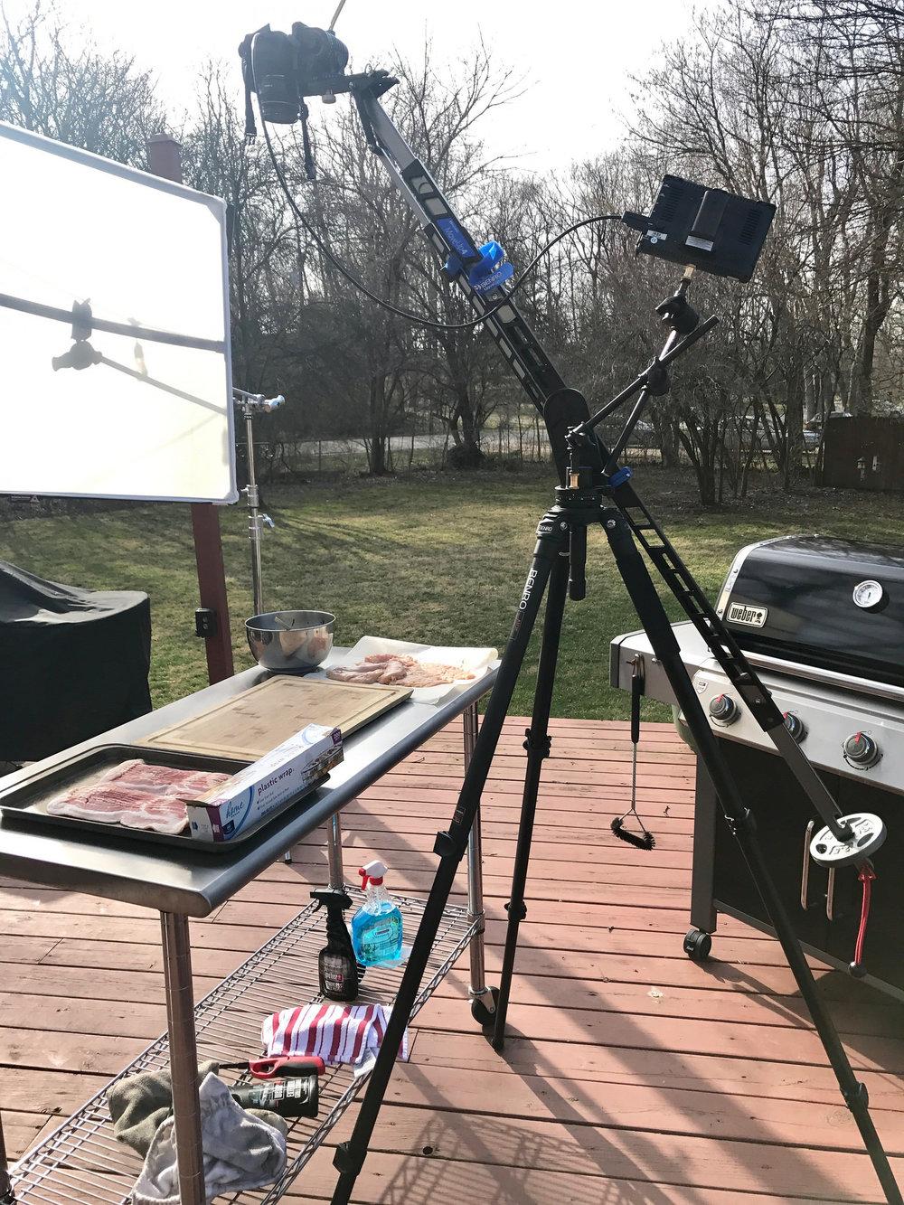 benro travel jib on grilling video shoot.jpg