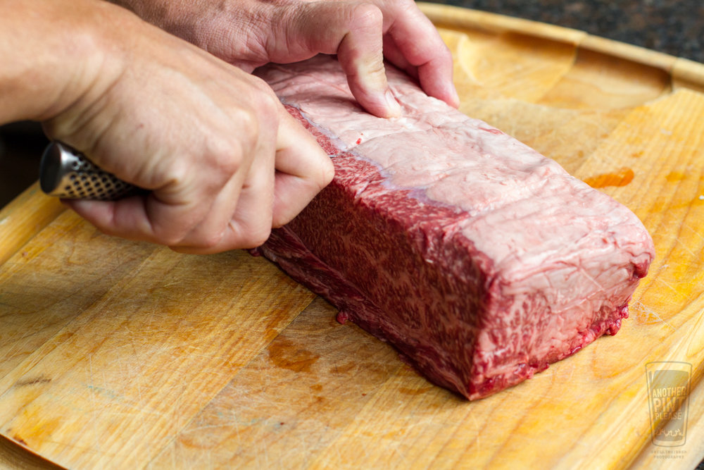 Slicing Wagyu Chuck Flap