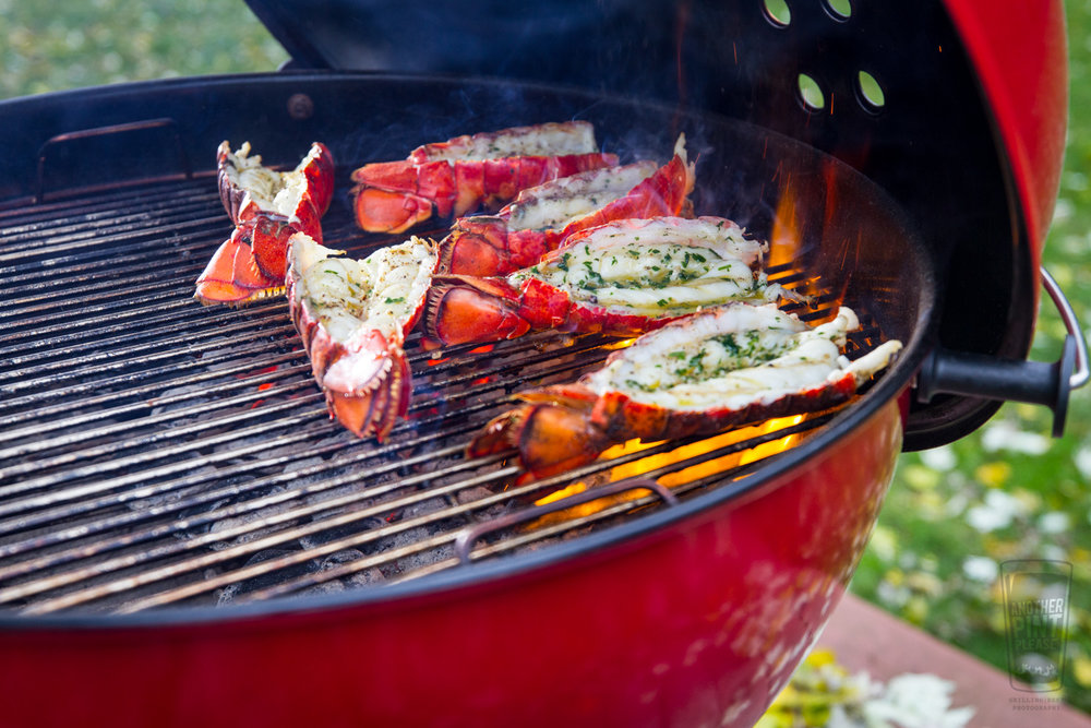 Grilled Lobster Tails - Red Kettle