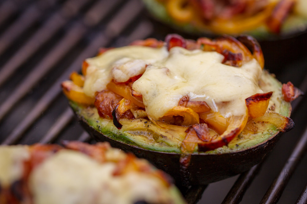 Grilled Stuffed Avocados with Cheese