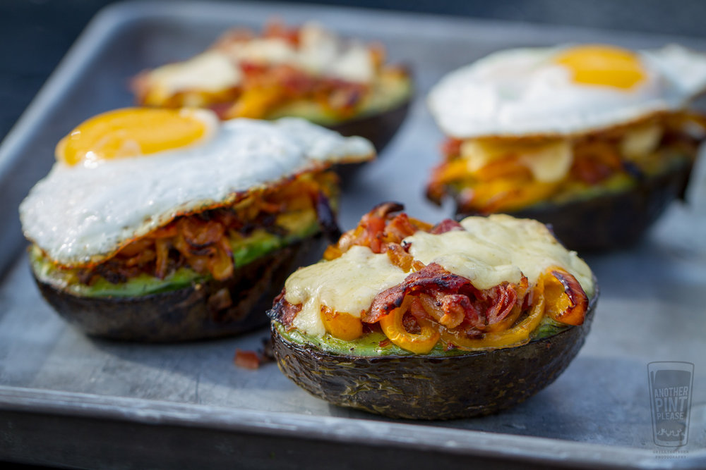 Grilled Stuffed Avocado with Egg