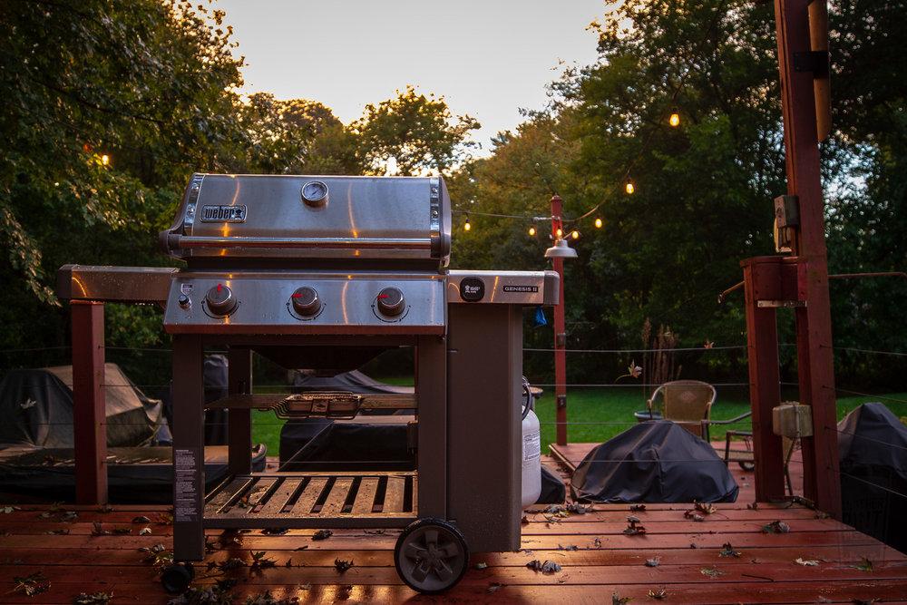 Weber Genesis II Grill at sunset.jpg
