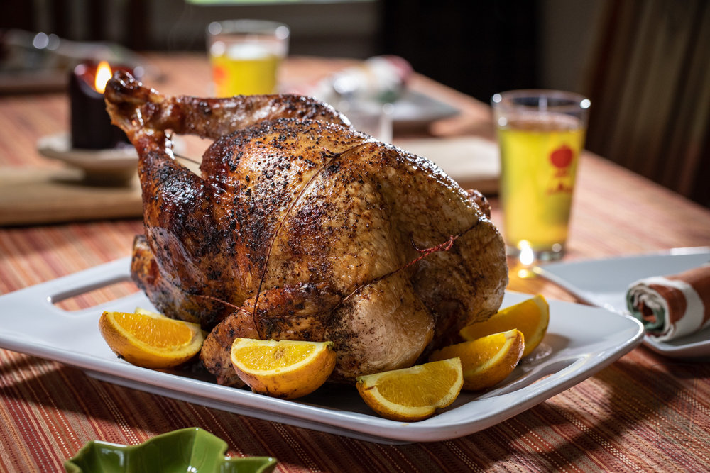 Plated Orange Sage Rotisserie Turkey