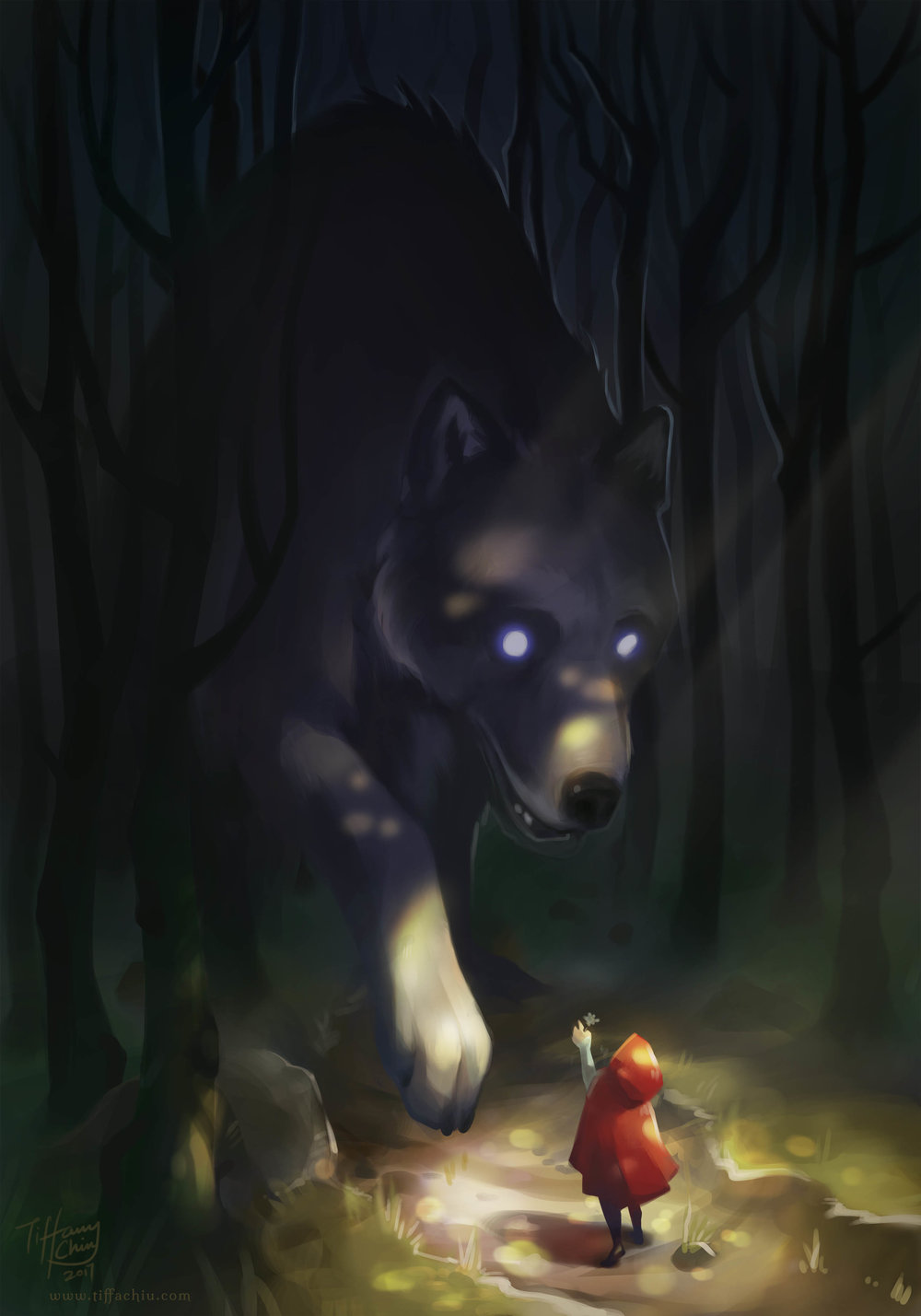 Then Little Red Riding Hood and Big Bad Wolf became the best of friends.