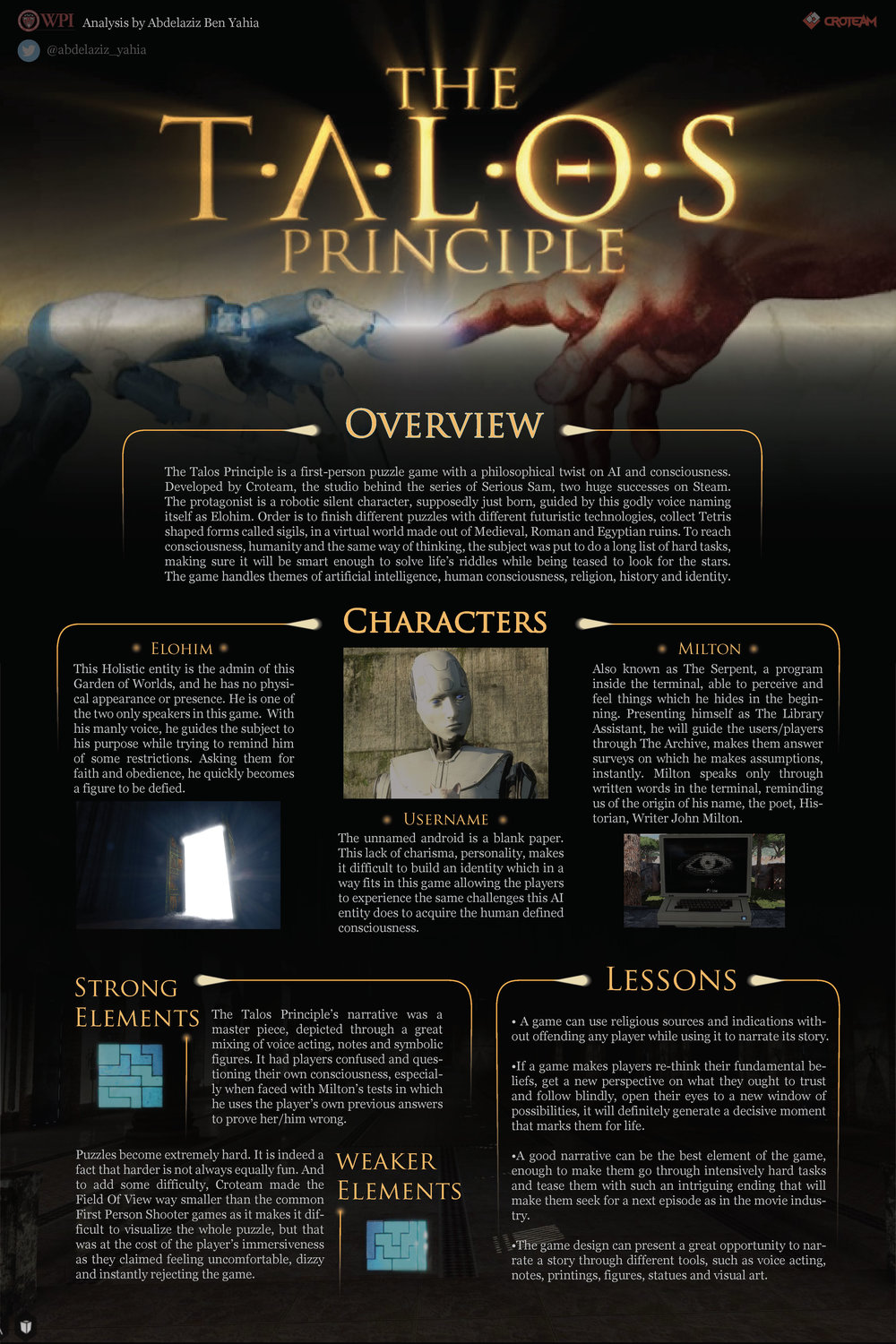 Narrative Review by Abdelaziz Ben Yahia, background image and title from The Talos Principle.