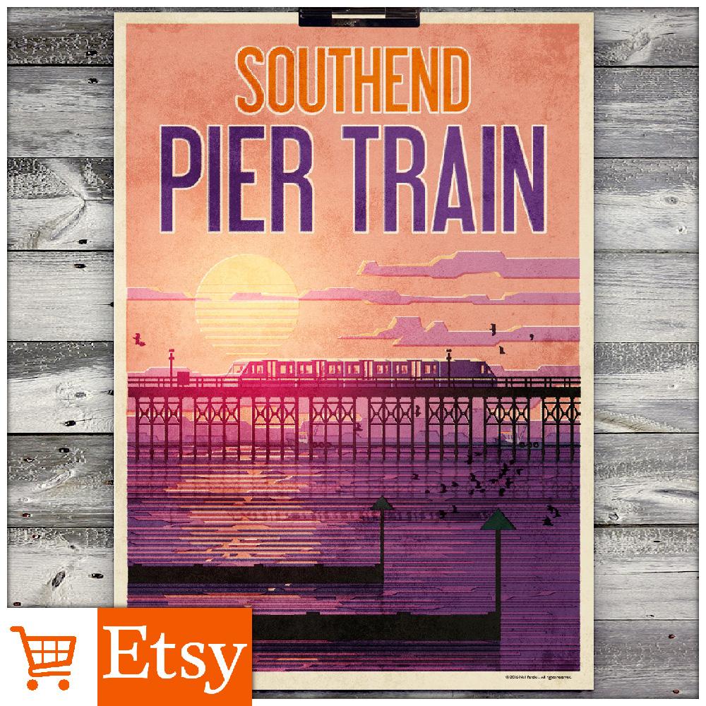 Southend - Pier Train A2 Poster