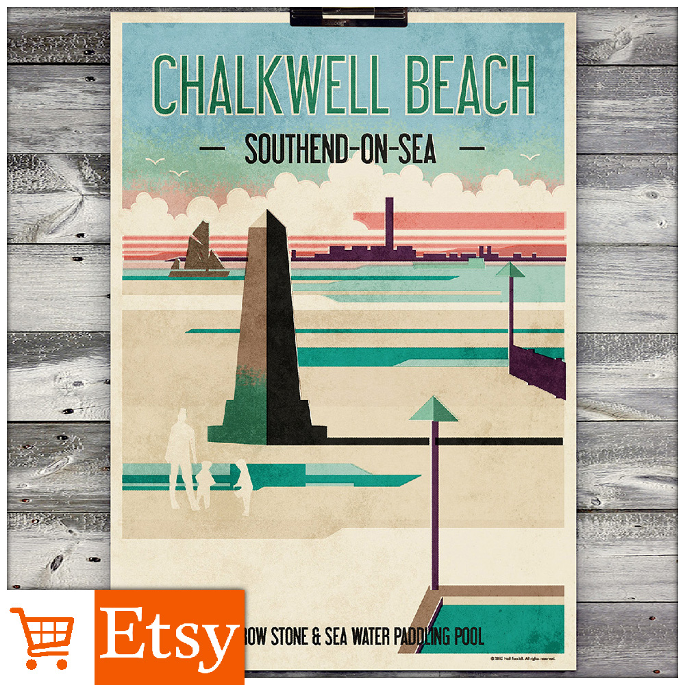 Chalkwell Beach - A2 Poster