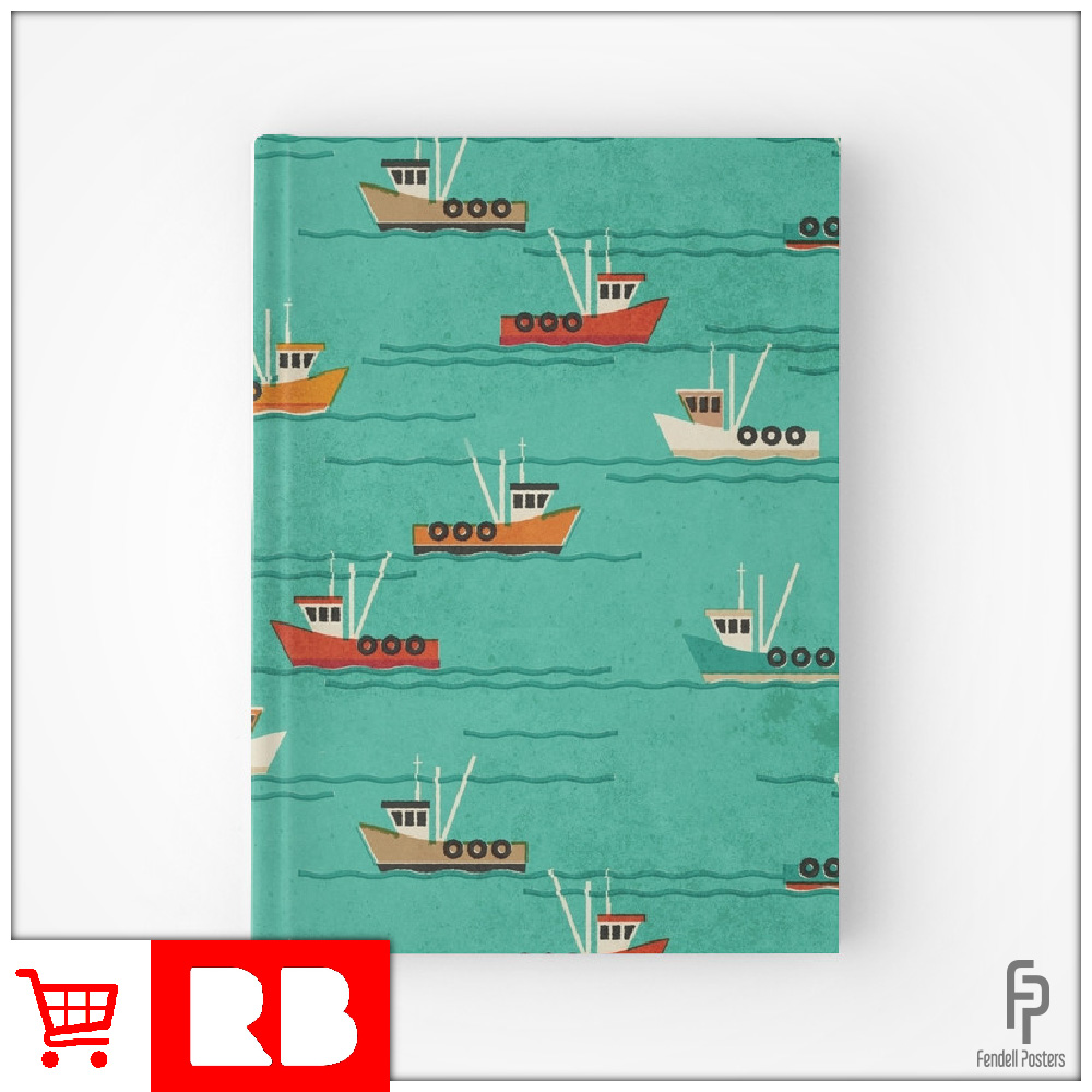 Leigh Fishing Trawlers - Hardcover Journal