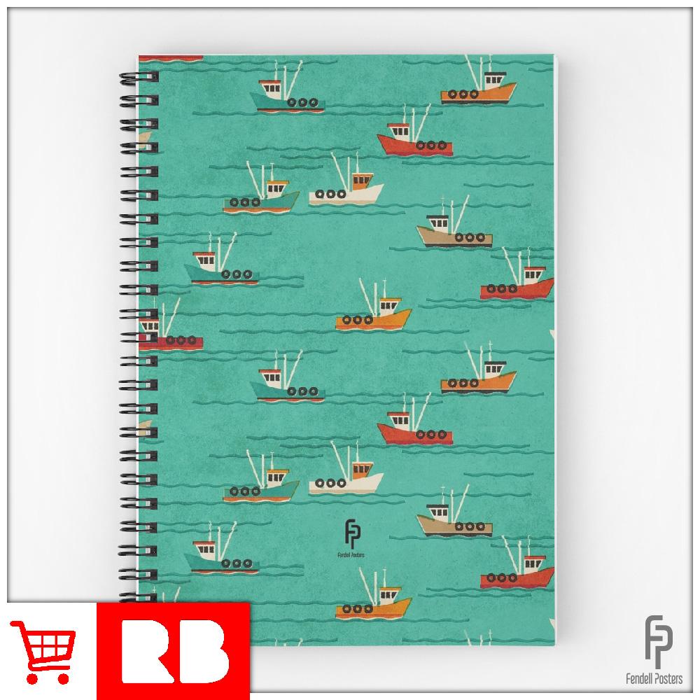 Leigh Fishing Trawlers - Spiral Notbook