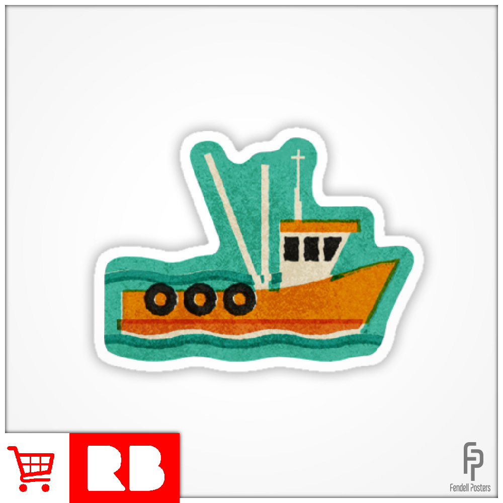 Leigh Fishing Trawlers - Sticker