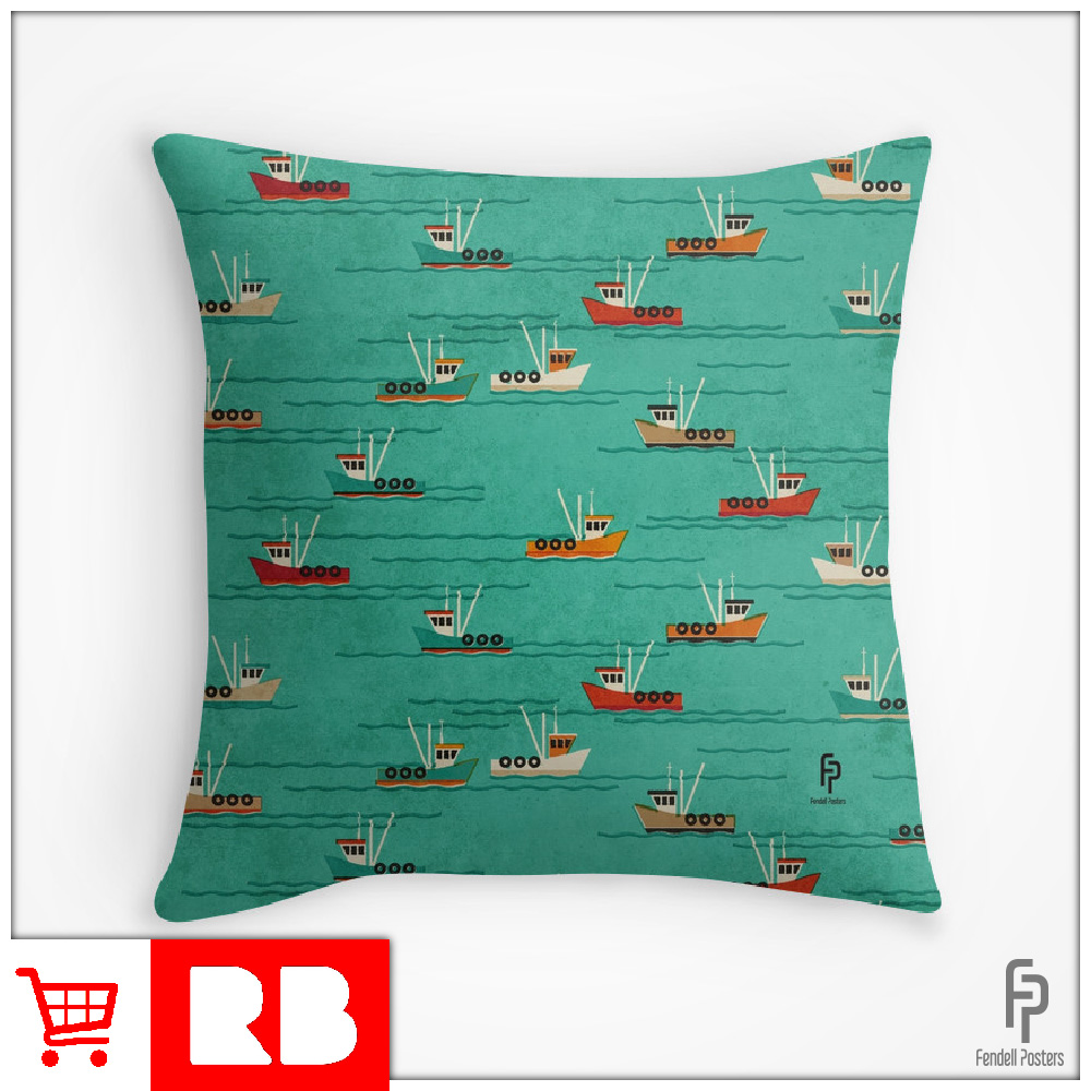 Leigh Fishing Trawlers - Throw Pillows