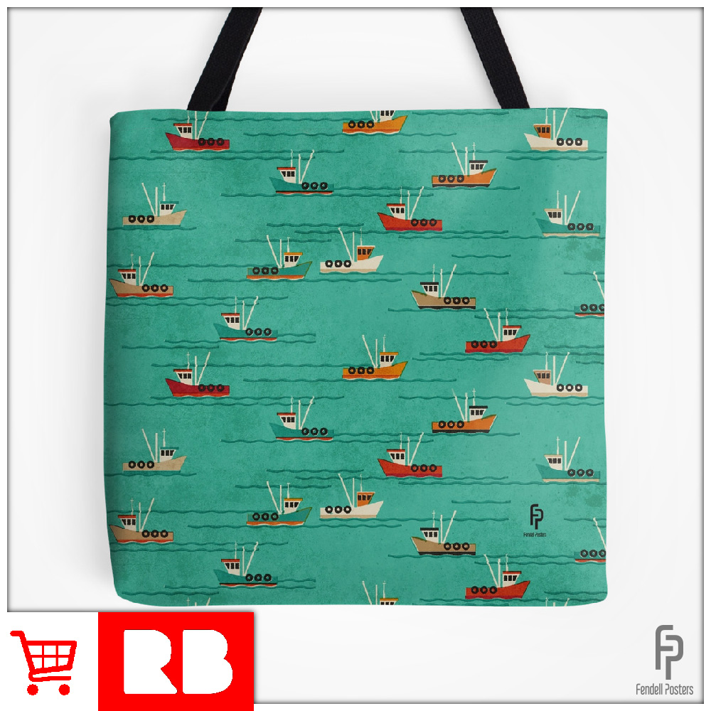 Leigh Fishing Trawlers - Tote Bag