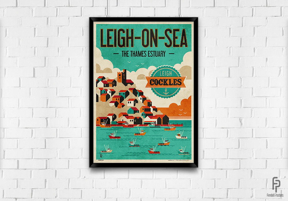 Leigh-on-Sea - Leigh Cockles - A2 Framed