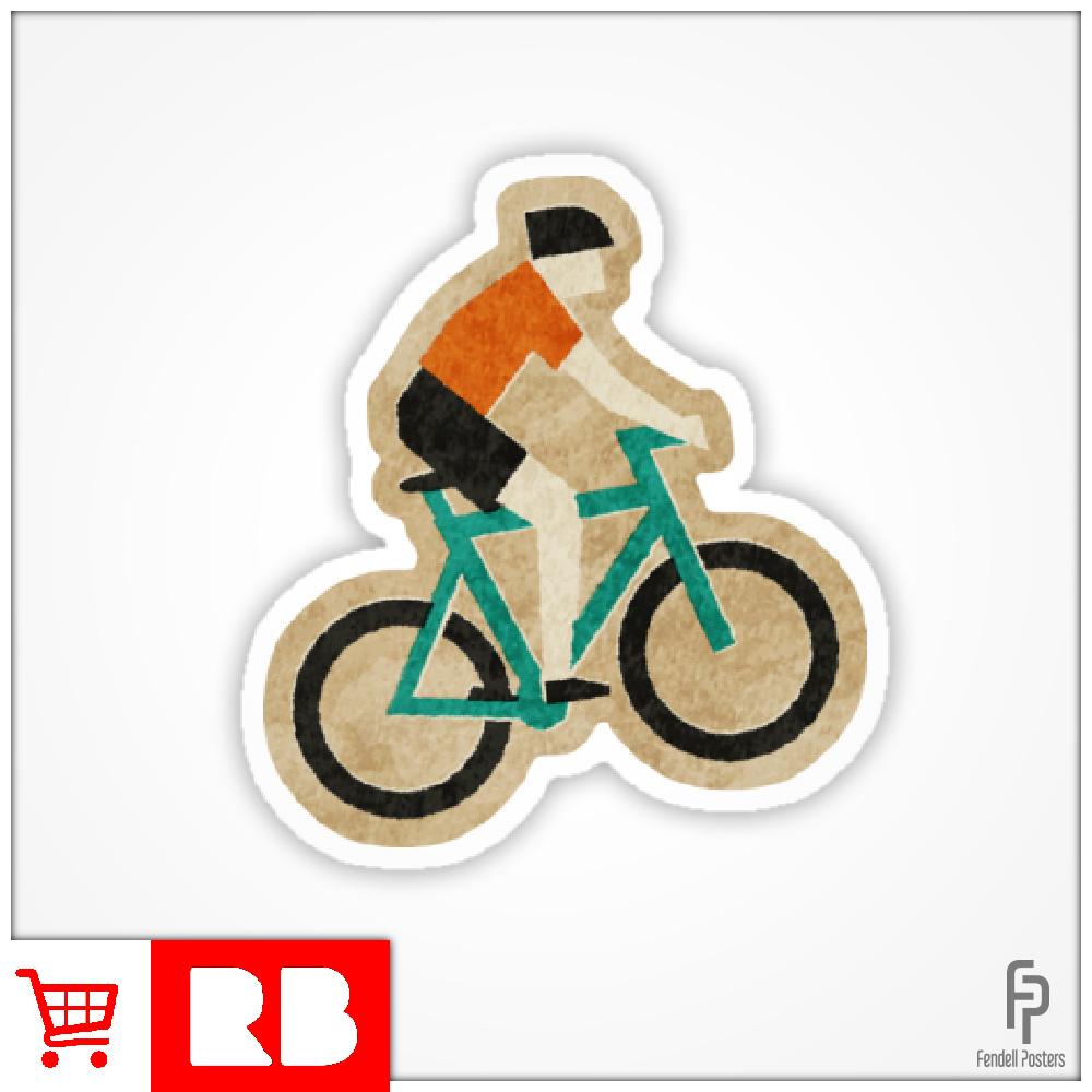 Mountain Biking - Sticker