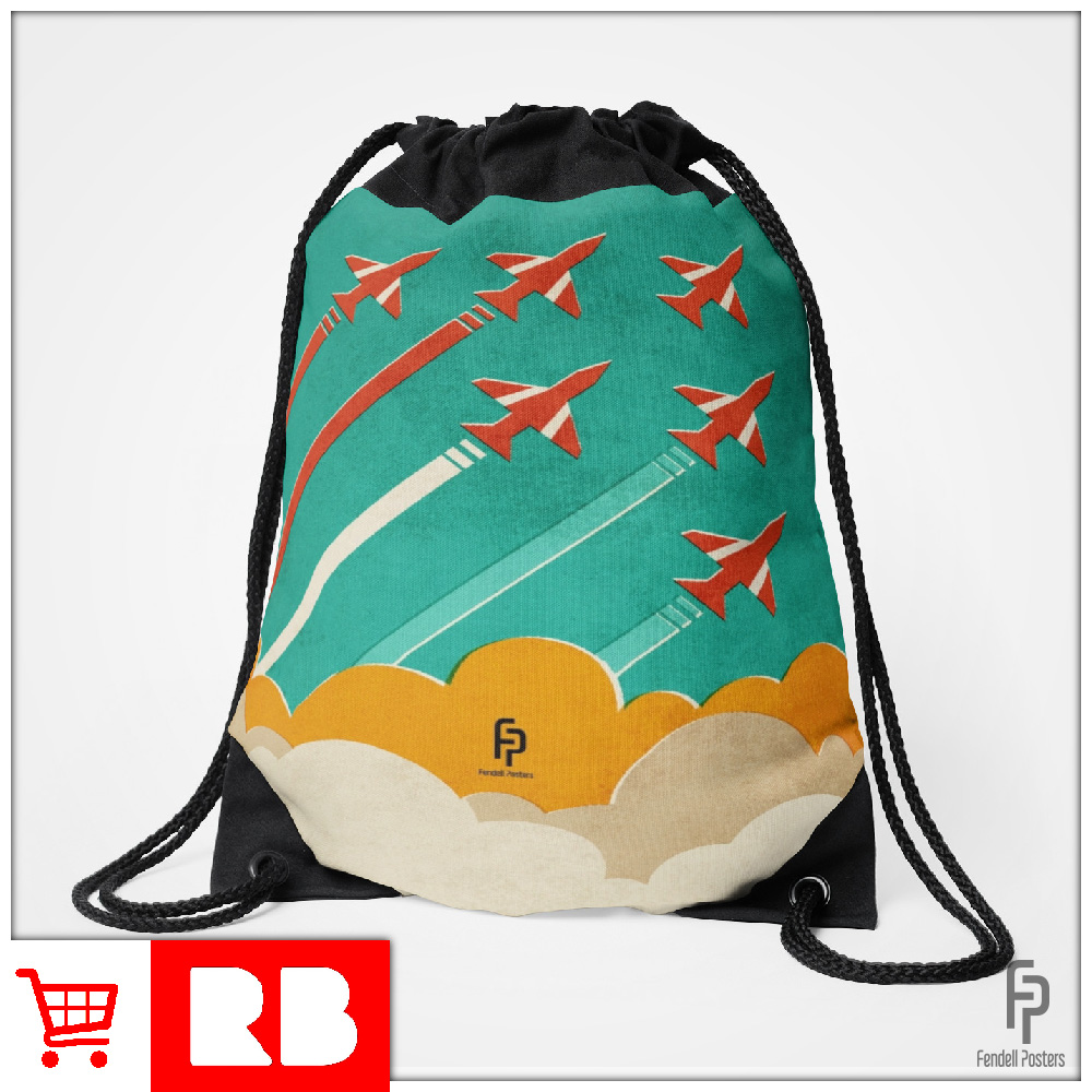 Red Arrows - Drawstring Bag